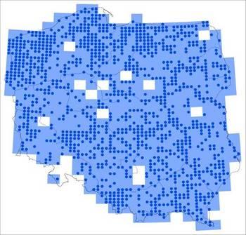 Mapa zasięgu referencyjnego Alcedo atthis