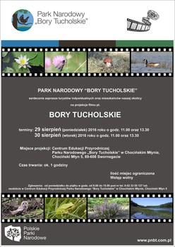 "Projekcje filmu pt. ""Bory Tucholskie"""