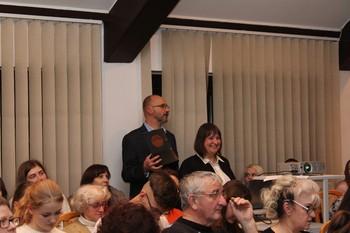 Prowadzący wykład: Pani Magdalena Węglarz i Wiesław Borkowski fot. B. Grabowska