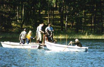 Pobieranie osadów dennych z jeziora Nierybno