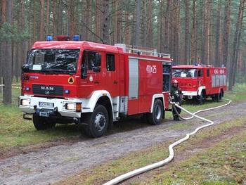 Zagrożenie pożarowe na terenach leśnych Parku