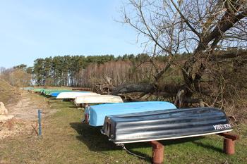 Cumowisko łodzi wędkarskich w Bachorzu